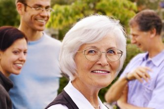 Senior lady wearing glass